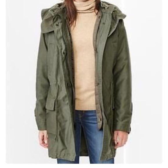 64% off GAP Jackets & Blazers - Gap green utility parka jacket M ...